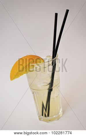 Ice Tea Isolated On The White Background