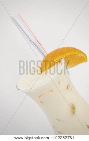 Cocktail Pina Colada Isolated On The White Background