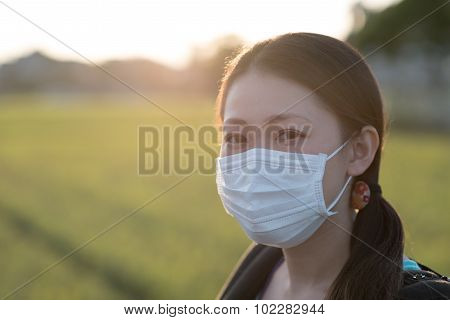 Japanese Woman With Mask