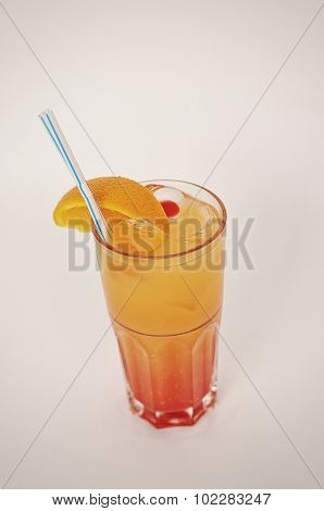 Cocktail Morning With Tequilla Isolated On The White Background
