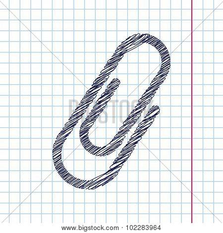 Vector clip icon. Eps10