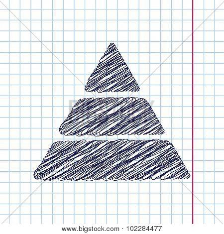 Vector pyramid icon. Eps10