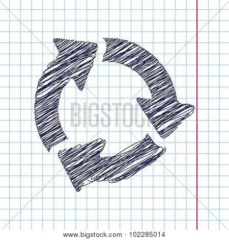 Vector three arrows icon. Eps10