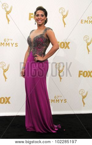 LOS ANGELES - SEP 20:  Megan Wollover at the Primetime Emmy Awards Press Room at the Microsoft Theater on September 20, 2015 in Los Angeles, CA