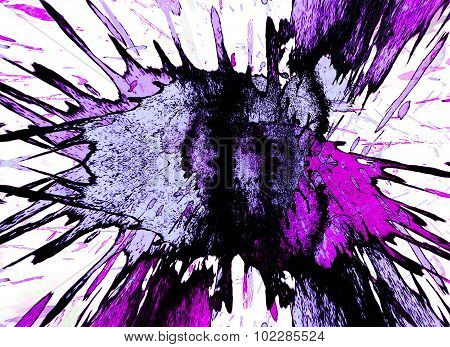 Background With A Bright Color Blots