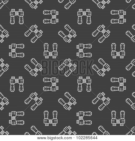 Dark binocular seamless pattern