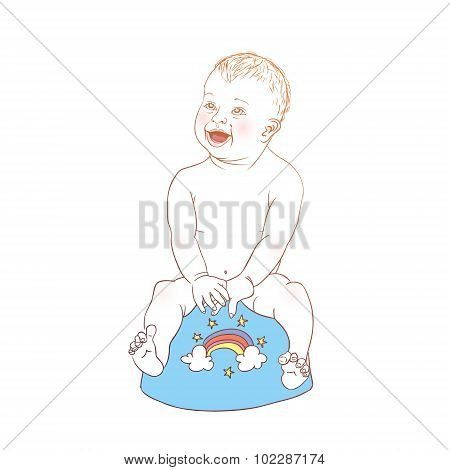 Baby Using The Potty