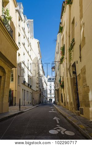 Rue Pecquay is a narrow street in the Marais district
