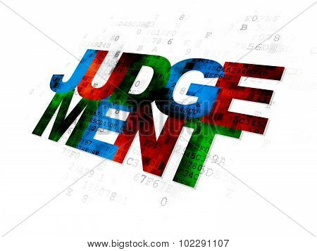 Law concept: Judgement on Digital background
