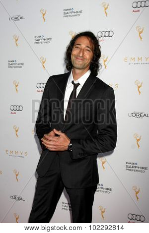 LOS ANGELES - SEP 19:  Adrien Brody at the 67th Emmy Awards Performers Nominee Reception at the Pacific Design Center on September 19, 2015 in West Hollywood, CA