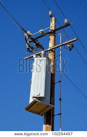 Wooden Transformer Pole