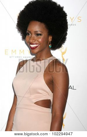 LOS ANGELES - SEP 19:  Teyonah Parris at the 67th Emmy Awards Performers Nominee Reception at the Pacific Design Center on September 19, 2015 in West Hollywood, CA