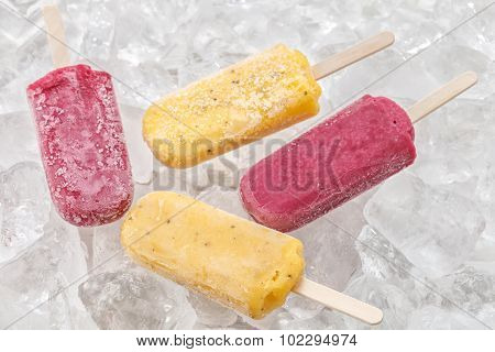 Passion Fruit Red Grapes Popsicle Yummy Fresh Summer Fruit Sweet Dessert