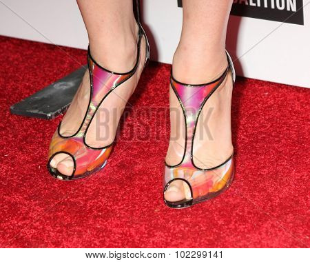 LOS ANGELES - SEP 18:  Lana Parrilla (shoe detail) at the TV Industry Advocacy Awards Gala at the Sunset Tower Hotel on September 18, 2015 in West Hollywood, CA