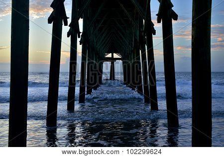 Under Pier Sunrise
