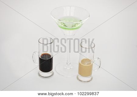 Cocktail Archangel  Isolated On The White Background
