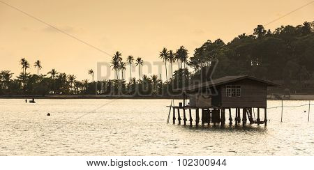 fishermans house at fisherman village , Salakphet , Koh Chang island, Thailand