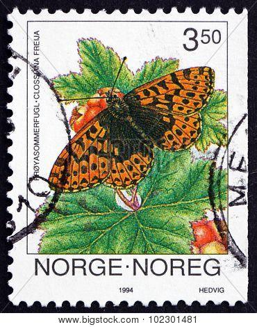 Postage Stamp Norway 1994 Freija Fritillary, Clossiana Freija, Butterfly
