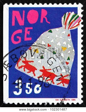 Postage Stamp Norway 1995 Knitted Cap