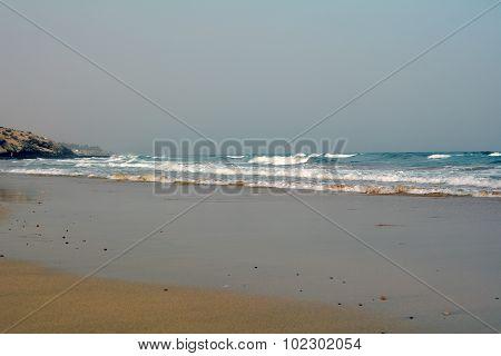 Beautiful tropical beach on the Canary Island Fuerteventura,Costa Calma.Spain.
