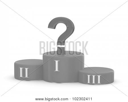 Sports pedestal. 3d