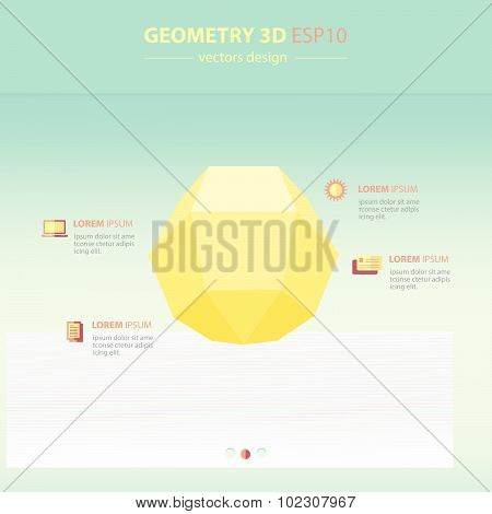 Sphere Geometry Abstract 3D Infographic And Icons Design.