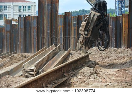 Retaining wall steel sheet pile