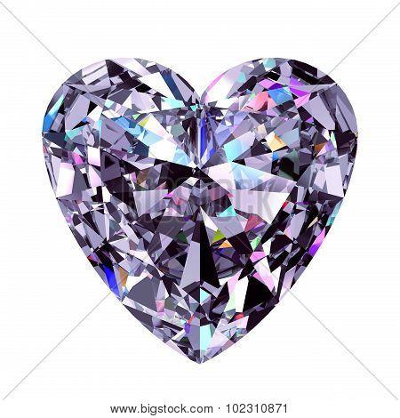 Diamond Heart. 3D Model.