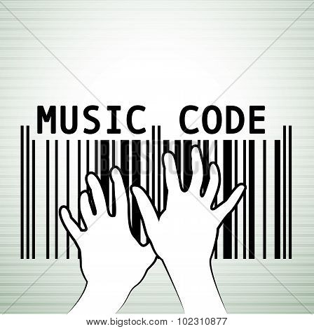 Bar code in musical style