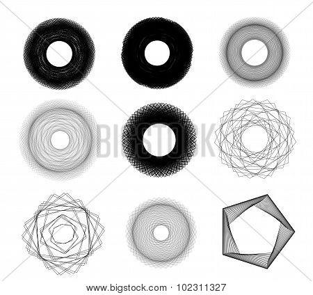 Sketchy Circles Illustration