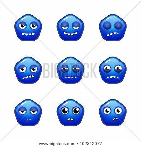 Blue Monster's Emotions Sprite Sheets