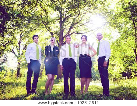 Green Business Team Corporate Eco-friendly Concept