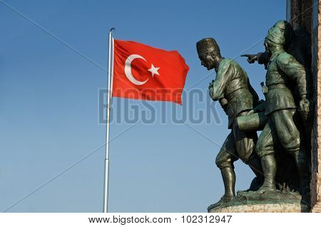 Taksim Monument Of The Turkish Republic