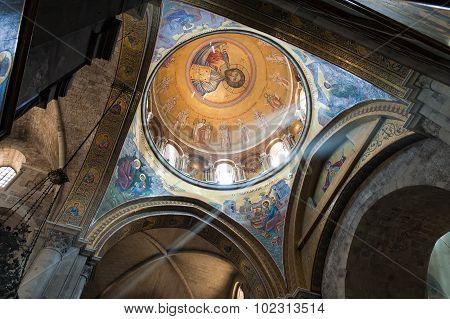 Fresco Of Jesus In The Church