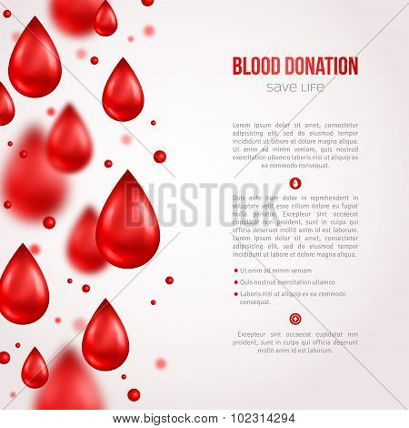 Donor Poster or Flyer. Blood Donation Lifesaving and Hospital Assistance.