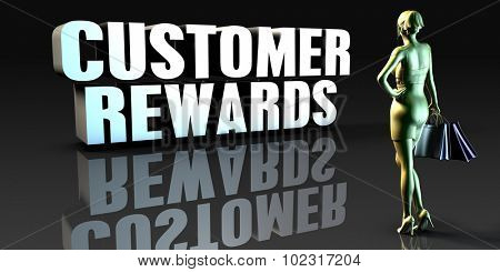 Customer Rewards as a Concept with Lady Holding Shopping Bags