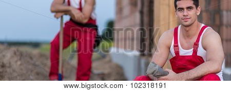Builders In Red Overall