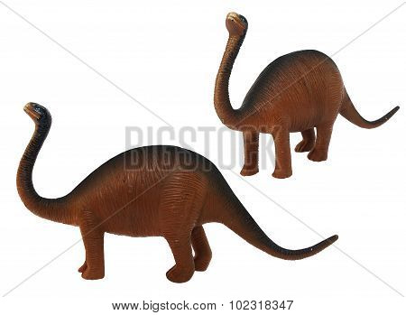 Isolated Sauropod dinosaur toy photo.