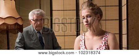 Woman On Session With Psychoanalyst