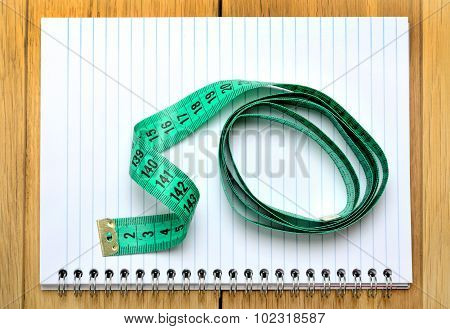 Blank Notebook With Centimeter