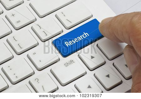 Keyboard And Finger - Business Concept