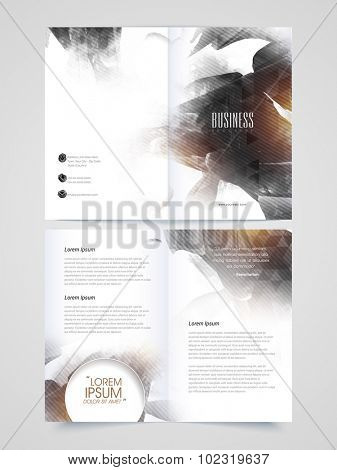 Creative abstract Brochure, Template or Flyer presentation for Business or Corporate Sector.