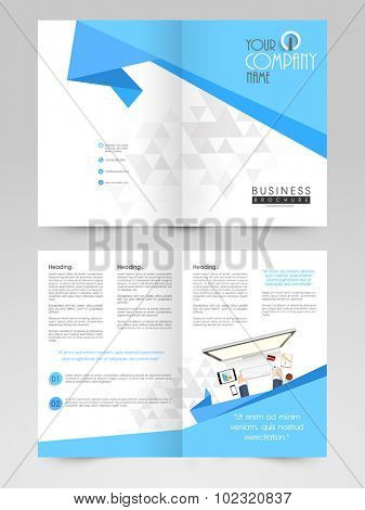 Creative Business Brochure, Template or Flyer design with front and back side presentation.
