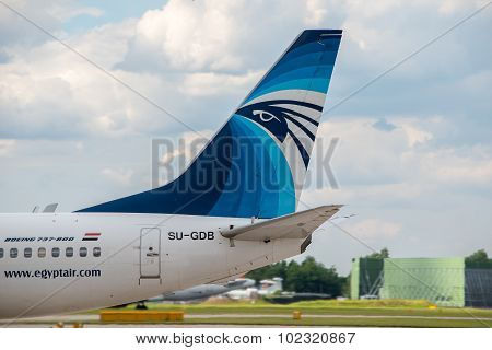 Egyptair Boeing 737 Tail