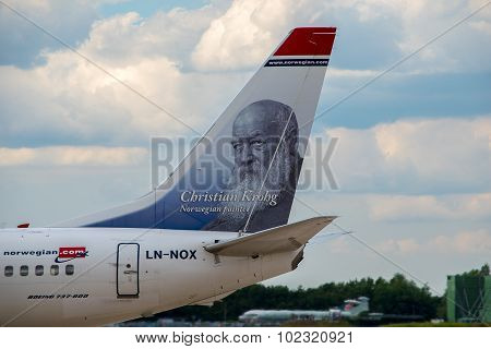 Norwegian Air Boeing 737 Tail