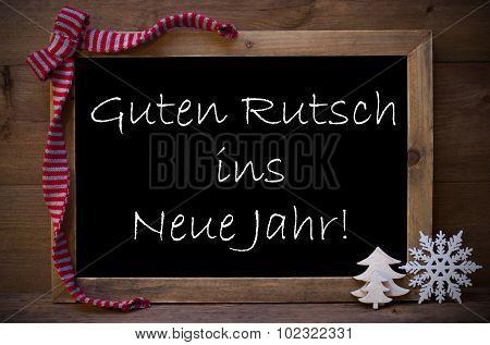 Christmas Chalkboard Guten Rutsch Ins Neue Jahr Means New Year