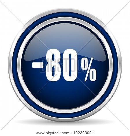 80 percent sale retail icon
