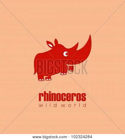 Cute Red Rhinoceros