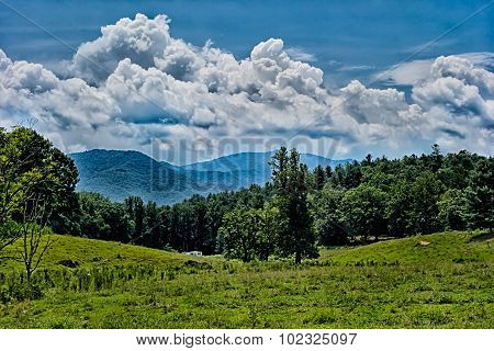 Blue Ridges Of The Appalachian Mountains On The Blue Ridge Parkway Near Bryson City