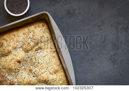 Eggnog and Poppy Seed Cake